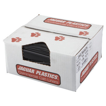 Jaguar Plastics Repro Low-Density Can Liners, 1.5 Mil, 43 x 47, Black (1 CT/EA)