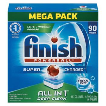 Reckitt Benckiser Powerball Dishwasher Tabs, Fresh Scent, 90/Box (1 CT/EA)