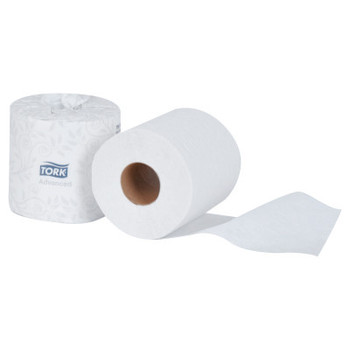 Tork Advanced 2-Ply Bath Tissue, 2-Ply, White, 500 Sheets (96 CT/CS)