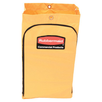 Newell Rubbermaid Zippered Vinyl Cleaning Cart Bag, 24gal, 17 1/4w x 10 1/2d x 30 1/2h, Yellow (4 CT/PA)