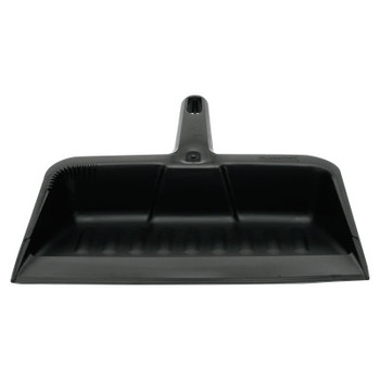 "RUBBERMAID COMMERCIAL PROD. Heavy-Duty Dustpan, 8 1/4"" w, Polypropylene, Charcoal (12 CT/CS)"