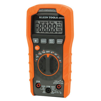 Klein Tools MM400 Digital Multimeters, 19 Function, 32F to 104F, 10A (AC/DC) (1 EA/CA)