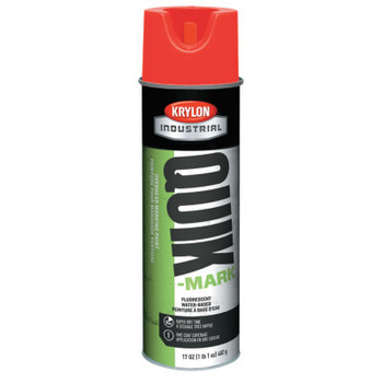 Krylon Industrial Quik-Mark Overhead Marking Paints, 20 oz, Fluorescent Red (12 CN/BTL)