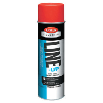 Krylon Industrial Line-Up Athletic Field Striping Paints, 17 oz Aerosol Can, Scarlet Red (1 CN/EA)