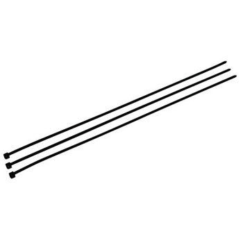 3M Standard Cable Ties, 50 lb Tensile Strength, 14 3/5 in, UV Black, 500 per bag (500 BG/KT)