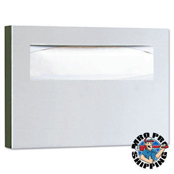 BOBRICK WASHROOM Stainless Steel Toilet Seat Cover Dispenser, 15 3/4 x 2 x 11, Satin Finish (6 EA/CA)