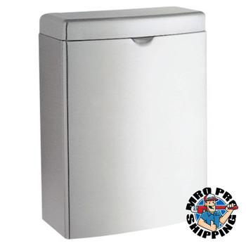 BOBRICK WASHROOM Contura Sanitary Napkin Receptacle, Rectangular, Stainless Steel, 1gal (12 EA/CA)