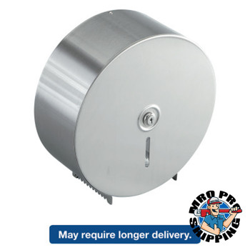 BOBRICK WASHROOM Jumbo Toilet Tissue Dispenser, Stainless Steel, 10.625W x 10.625H x 4.5D (6 EA/EA)