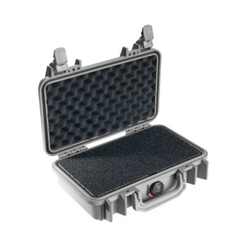 Pelican 1150 Protector Cases, 0.12cu ft, 10.54 in x 6.04 in x 3.16 in, Silver (1 EA/CT)
