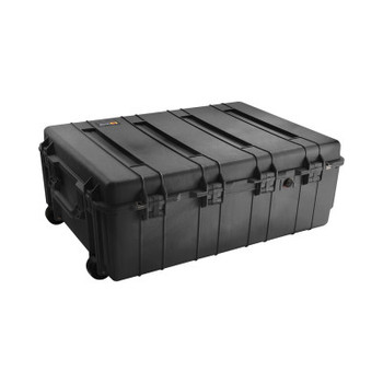 Pelican 1730 Protector Transport Cases, 5.9cu ft, 34in x 24in x 12.5in, Black, With Logo (1 EA/CT)