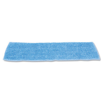 """RUBBERMAID COMMERCIAL PROD. Economy Wet Mopping Pad, Microfiber, 18"""", Blue (12 CT/EA)"""