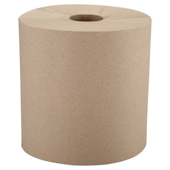"""Windsoft Nonperforated Roll Towels, 8"""" x 800ft, Brown (6 CT/EA)"""