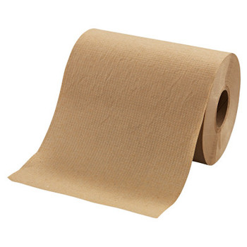 """MORCON Hardwound Roll Towels, 8"""" x 350ft, Brown (12 CT/BX)"""