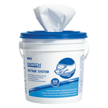 Kimberly-Clark Professional KIMTECH Wipers, Disinfect/Sanitize, 12 x 12 1/2, White, 90/Roll (6 CT/BX)
