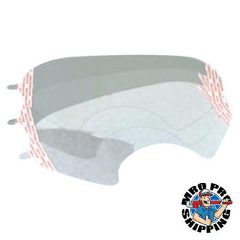 3M 6000 Series Half and Full Facepiece Accessories, Lens Cover, Clear (25 EA)