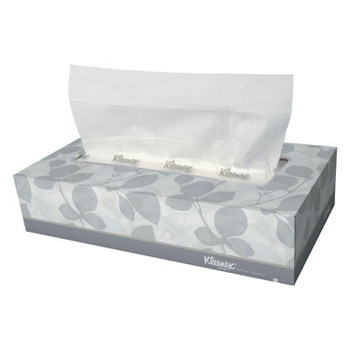 Kimberly-Clark Professional White Facial Tissue, 2-Ply, Pop-Up Box, 125 Sheets (48 CT/EA)