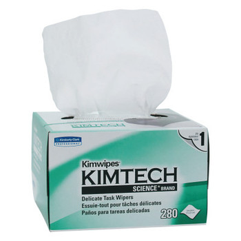 Kimberly-Clark Professional KIMTECH KIMWIPES, Delicate Task Wipers, 1-Ply, 4 2/5 x 8 2/5 (1 CT/EA)