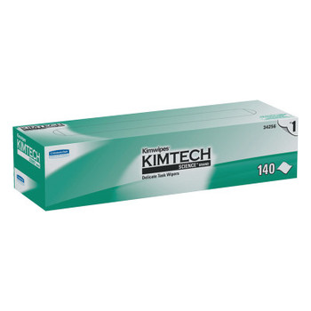 Kimberly-Clark Professional KIMTECH KIMWIPES Delicate Task Wipers, 1-Ply, 14 7/10 x 16 3/5, 140/BX (1 CT/EA)