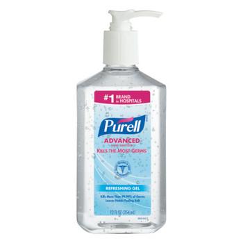 Gojo Advanced Instant Hand Sanitizer, 12oz Pump Bottle (12 CT/EA)
