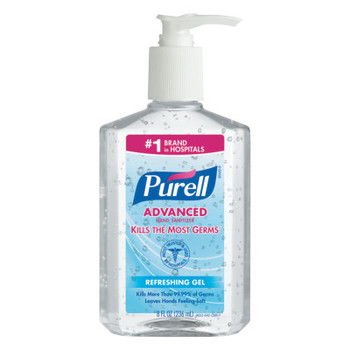 Gojo Advanced Instant Hand Sanitizer, 8oz Pump Bottle (12 CT/EA)