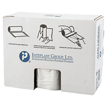 Inteplast Group High-Density Can Liner, 38 x 60, 60gal, 22mic, Clear, 25/Roll (1 CT/EA)