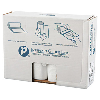 Inteplast Group High-Density Can Liner, 43 x 46, 60gal, 14mic, Clear, 25/Roll (1 CT/EA)