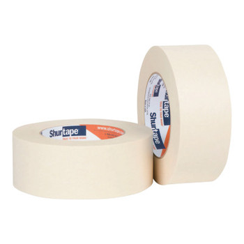 Shurtape High Performance Grade Masking Tapes, 36 mm x 55 m, 6.4 mil, Natural (24 CA/EA)