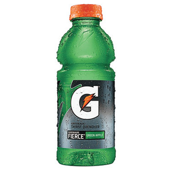 Gatorade Wide Mouth Bottles, 20 Oz, Fierce Green Apple (24 CA/EA)
