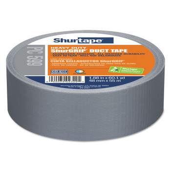Shurtape PC 599 ShurGrip  Heavy-Duty Duct Tapes, 48 mm x 55 M x 9 mil, Silver (24 CA/EA)