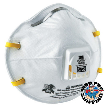 3M N95 Particulate Respirators, Half Facepiece, Non-Oil Filter, One Size (10 EA)