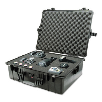 Pelican Large Protector Cases, 1600 Case, 16.54 in x 7.99 in x 21.51 in, Black (1 EA/CART)