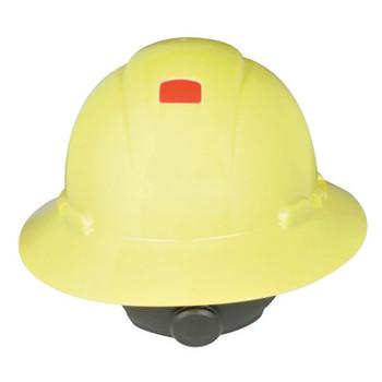 3M Full Brim Hard Hats, 4 Point, Ratchet, Hi Viz Yellow (20 EA)