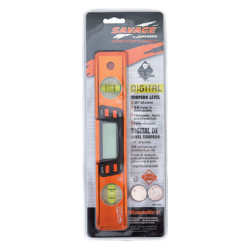 Swanson Tools Savage 9 in. Digital Torpedo Magnetic Levels, 2 Vials (1 EA/KT)