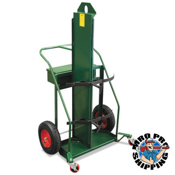 Anthony Patented Load-N-Roll Cylinder Carts with Built in Firewall, Rubber Wheels (1 EA/EA)