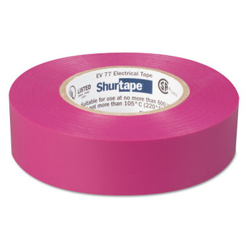 Shurtape EV 77 Professional Grade Electrical Tapes, 66 ft x 3/4 in, Purple, 100/case (100 CA/KIT)