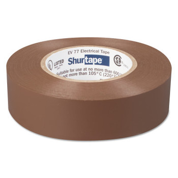 Shurtape EV 77 Professional Grade Electrical Tapes, 66 ft x 3/4 in, Brown, 100/case (100 CA/EA)