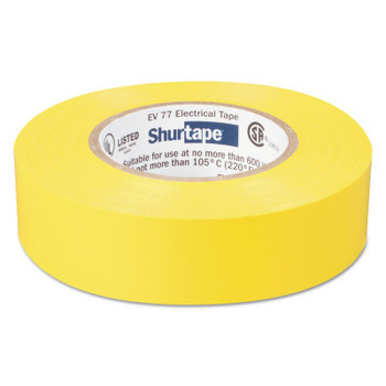 Shurtape EV 77 Professional Grade Electrical Tapes, 66 ft x 3/4 in, Yellow, 100/case (100 CA/EACH)