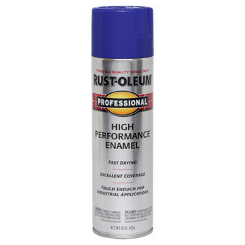 Rust-Oleum Industrial High Performance Enamel Spray Paints, 15 oz, Blue, Gloss Finish (6 CA/EA)