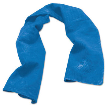Ergodyne Chill-Its 6602 Evaporative Cooling Towels, 13 1/2 in X 29 1/2 in, Solid Blue (1 EA)