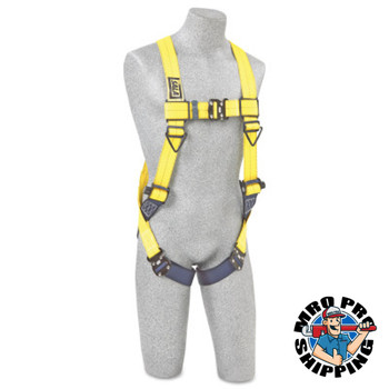 Capital Safety Delta Vest-Style Harnesses, Back D-Ring, 2X-Large, Quick Connect Buckles (1 EA/EA)
