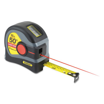 General Tools 2-in-1 Laser Tape Measures, 3/4 in x 16 ft, Inch/Metric, 50 ft Laser (1 EA/EA)