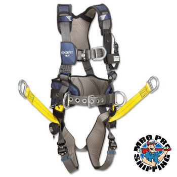 Capital Safety ExoFit NEX Construction Harnesses, Back, Front & Side D-Rings, Medium (1 EA/EA)