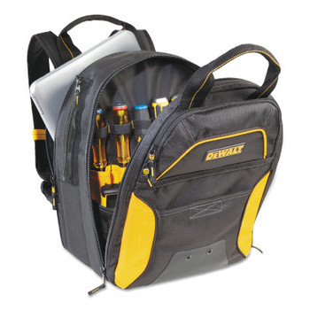 CLC Custom Leather Craft USB Charging Tool Backpacks, 11in x 15 in, 33 Compartments, Yellow/Black, No LED (1 EA/EA)