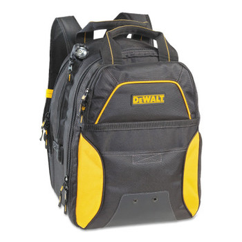CLC Custom Leather Craft USB Charging Tool Backpacks, 11in x 15 in, 33 Compartments, Yellow/Black, LED (1 EA/EA)