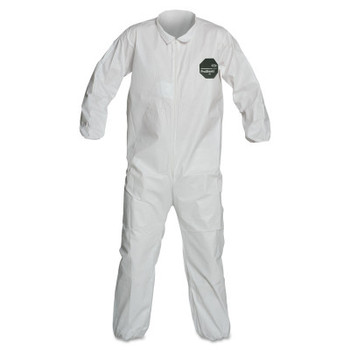 DuPont ProShield 50 Coveralls, L, Collar, Elastic Wrists/Ankles, Zip Closure, Serged (25 CA/EA)