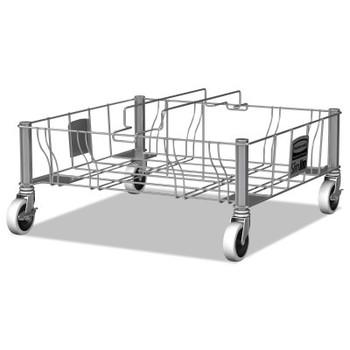 Newell Rubbermaid Slim Jim Dollies, 200 lb Capacity, 29.6 in W x 20 in L, Silver (1 EA/EA)