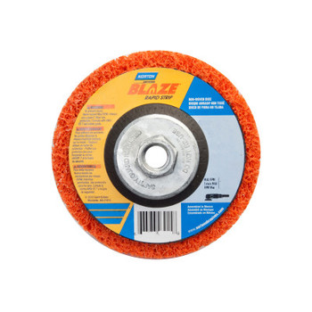 Norton Bear-Tex Blaze Rapid Non-Woven Depressed Center Discs, 7 in x 5/8 in - 11, 8000 RPM (10 BX/EA)