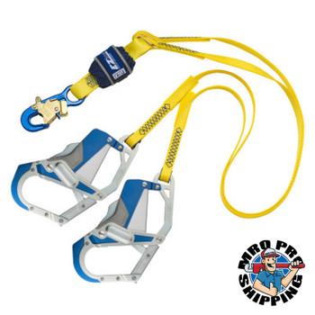 Capital Safety EZ-Stop Tie-Off Shock Absorbing Lanyards, 6 ft, Hook, 310 lb Cap, 2 Legs (1 EA/EA)