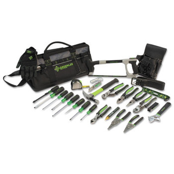 Greenlee Heavy-Duty Multi-Pocket Tool Kits, 8 Compartments, 12 1/2 in x 23 in (1 EA/EA)