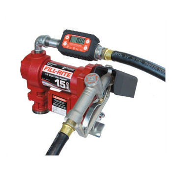 Fill-Rite Rotary Vane Pumps, 12 V, 3/4 in (NPT), 12 ft Hose, 15 gal/min (1 EA/EA)
